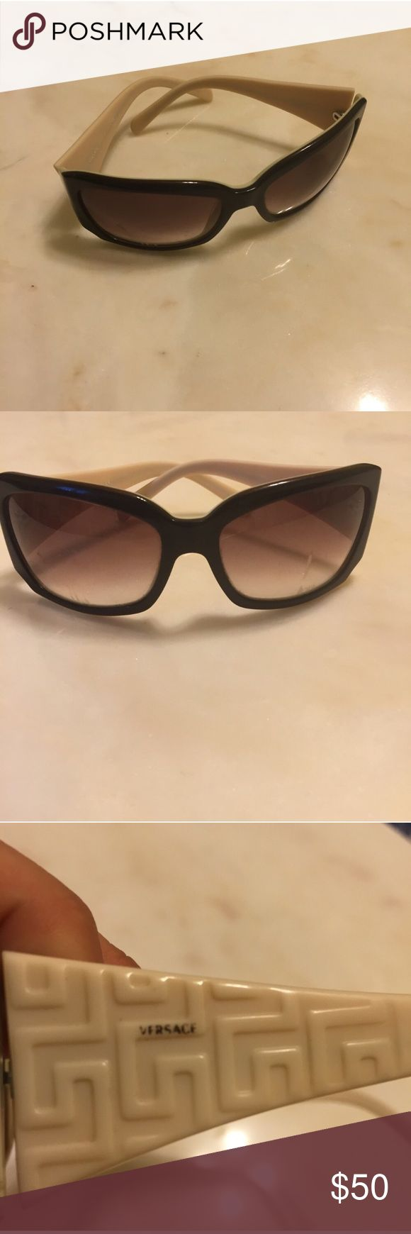 Versace Sunglasses Brand: Versace  Condition: Great condition, but doesn't come with case (lost it lol) Size: Sunglasses size Extra Details: Versace, Versace Medusa head on me like I'm 'Luminati I know that you like it Versace, Versace I love it, Versace the top of my Audi Versace Accessories Sunglasses