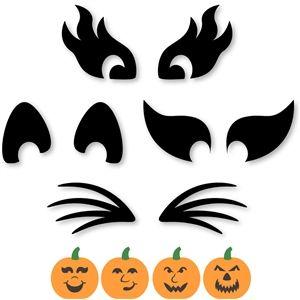 Silhouette Design Store - View Design #32843: build a jack o lantern eyes