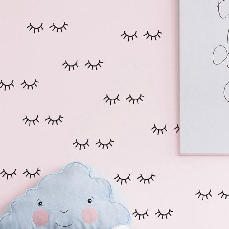 Bonito padrão de cílios decalque Da Parede Vinil removível Adesivos de Parede Para Quarto dos miúdos Adoráveis Olhos Sonolentos Baby Nursery Wall Art Home decoração em Adesivos de parede de Home & Garden no AliExpress.com   Alibaba Group