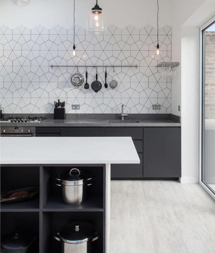 17 melhores ideias sobre cozinha de azulejo branco no for Azulejo sobre azulejo