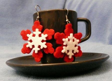Śnieżynki w wersji świątecznej :)