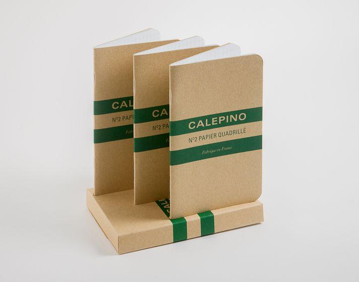Carnet N°2 Papier Quadrillé . Calepino
