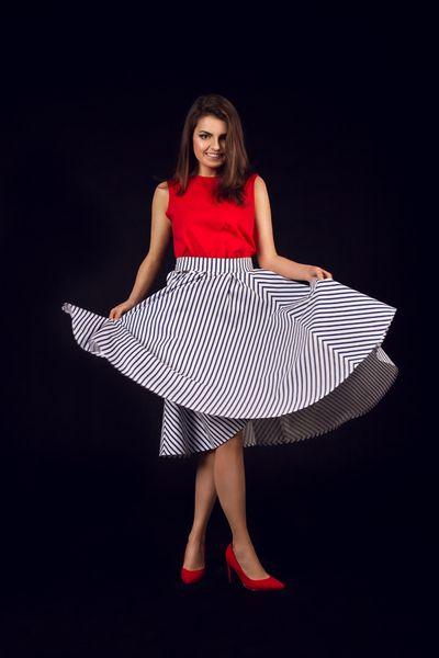 spódnica midi z koła SAILOR MOON w NG - Natalia Gorzołka  na DaWanda.com