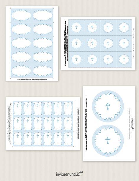 Colección de imprimibles Corona de hojas para comunión | Invitaenunclic