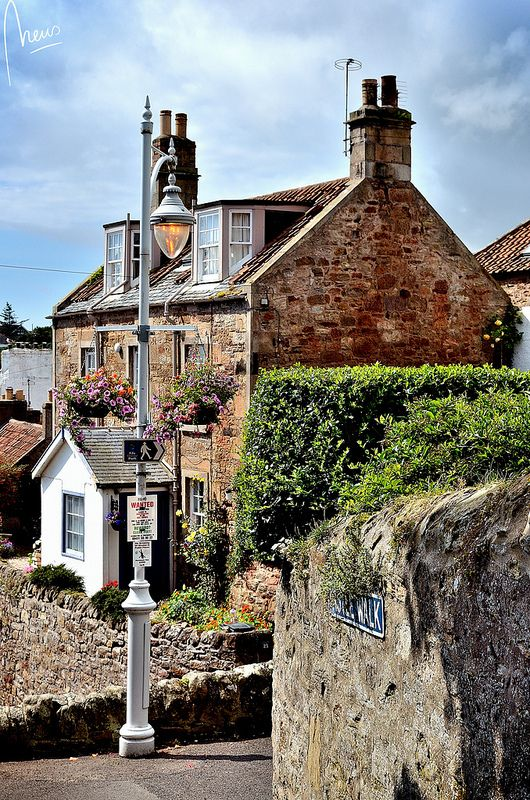The beautiful fishing village of Crail in Scotland, UK