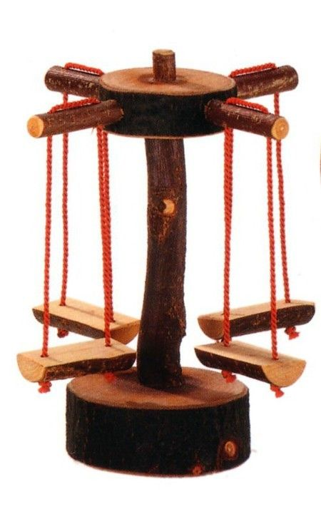 wooden merry go round, this would be awesome for a fairy garden