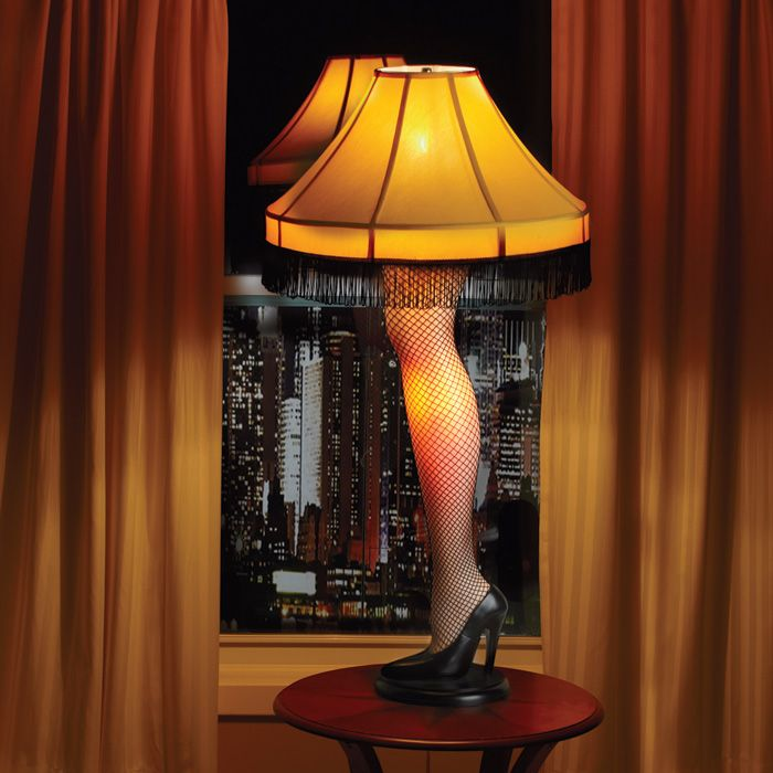 Add A Christmas Story Leg Lamp To Your Living Room Window