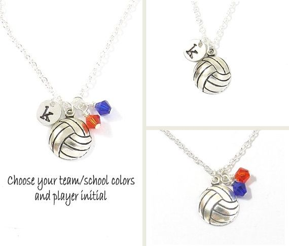 Volleyball Team Necklace Volleyball Necklace Volleyball