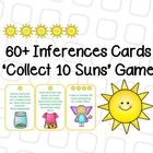 Inferences Card Game - Collect 10 Sun's!  (Suitable for 1st to 3rd Graders)  Includes: Inference Definition Poster 60+ Inference Cards (+ 8 'Moon' ...
