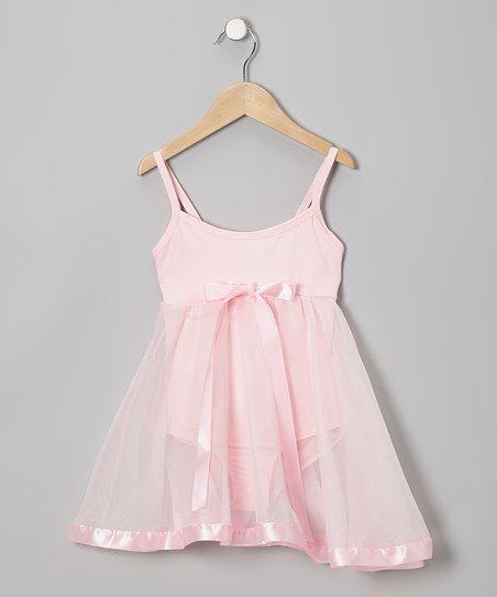 Light Pink Babydoll Skirted Leotard - Toddler & Girls | zulily