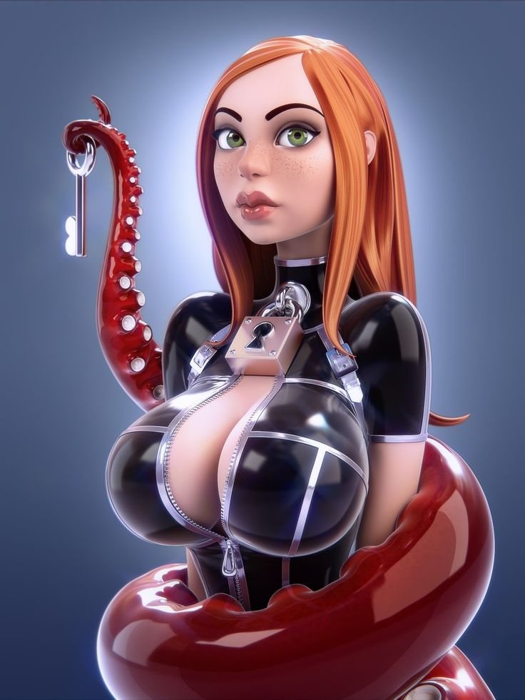 Busty female toons
