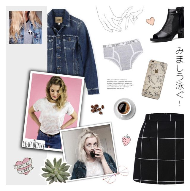 """""""Be The Type Of Person You Want To Meet - Yeah Bunny"""" by paradiselemonade ❤ liked on Polyvore featuring Paige Denim, Yeah Bunny, tumblr and YeahBunny"""