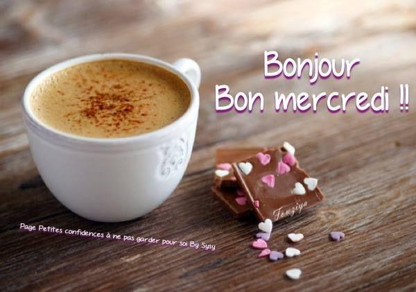 Mercredi image #3759 - Bonjour, Bon mercredi - Partager cette photo sur Facebook, Twitter et WhatsApp.