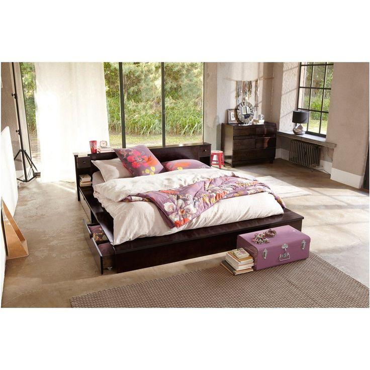 1000 id es sur le th me lits plateforme sur pinterest lits rangement int gr t tes de lit. Black Bedroom Furniture Sets. Home Design Ideas