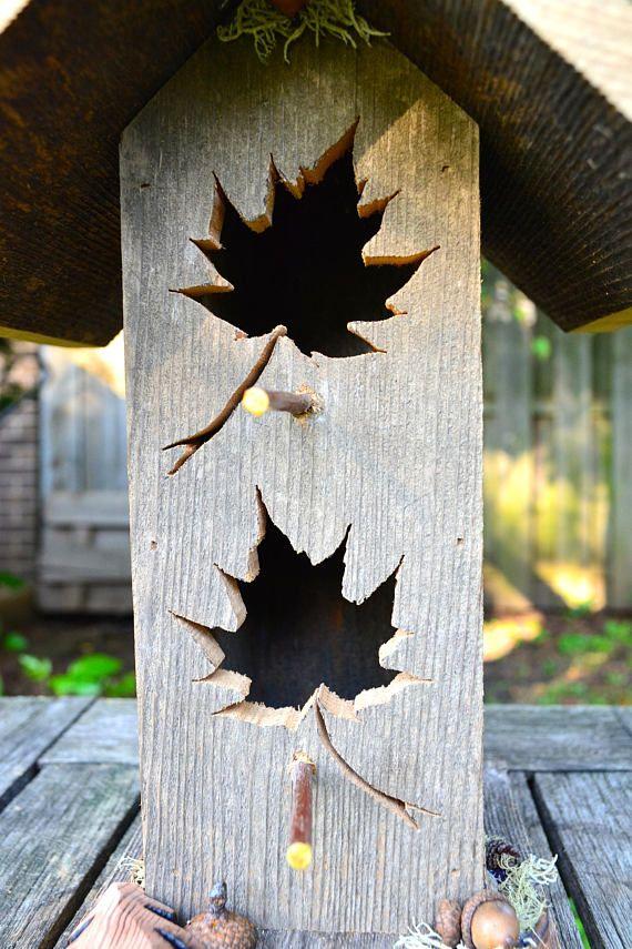 Rustic Birdhouse Cedar Bird House Barnwood Birdhouses