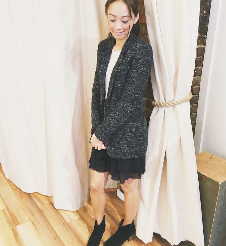 My style: Kit and Ace cashmere sweater, Wilfred tweed blazer, Wilfred silk skirt, Isabel Marant dicker boots #technicalcashmere #thisiskitandace #theblankcanvas #theonlyspot #aritzia #myaritzia #nowhereanywhere #style #styleinspo #fashion #dailylook #dailyoutfit #ootd #outfit #wiwt