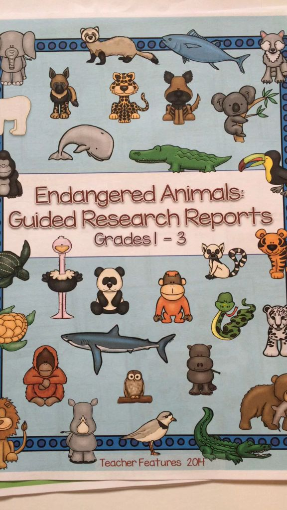 Endangered Animals Informational Writing (Grades 1 - 3) Everything you need to get your students started on a beginning guided research writing project. Research Animals and Animal Habitats, while teaching your class how to navigate and organize information. Common Core Aligned.