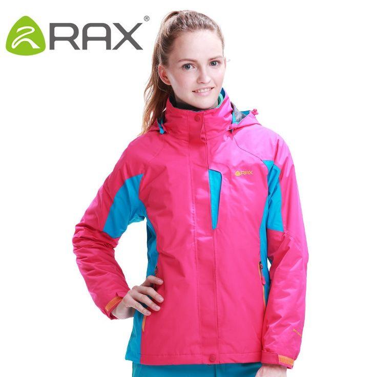 56.81$  Watch now  - RAX Outdoor Warm Winter Woman Hiking Jacket 2 in 1 Waterproof Hiking Jacket for Women Camping Trekking Winter Jacket For Women