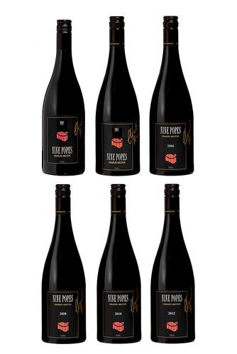 Barossa Wine Chapters Auction 2015: Live Auction Lots  Lot 3L  Charles Melton Wines  Nine Popes GSM. Six bottle set. One bottle each of the following vintages: 2002, 2004, 2006, 2008, 2010 and 2012. 750ml Bottle