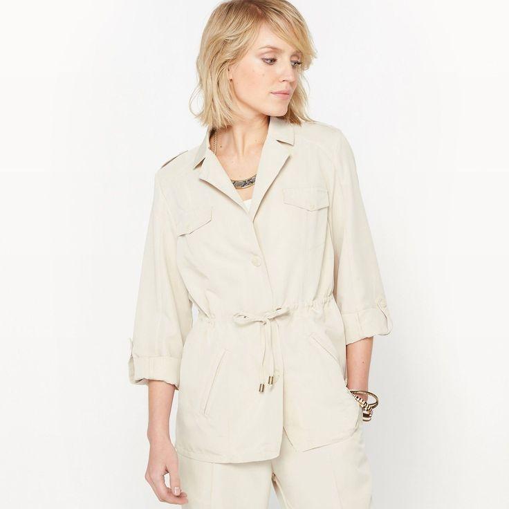 La Redoute Womens Utility Jacket, Peachskin Feel