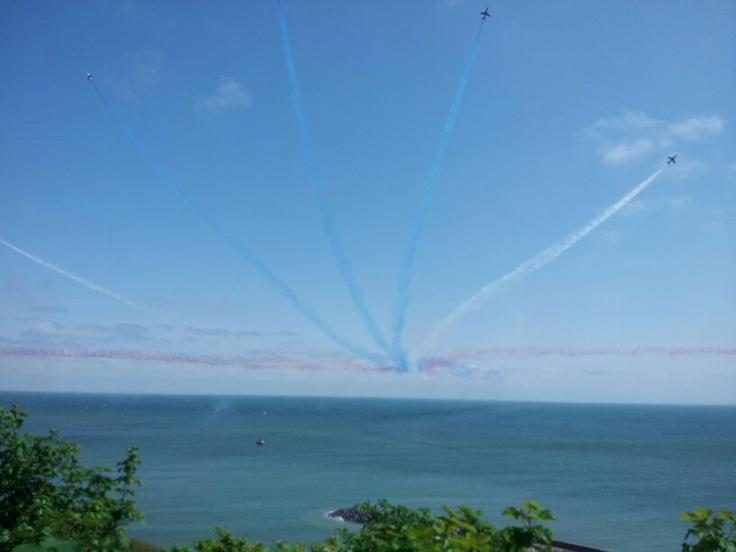 Red Arrows over Folkestone June 2013