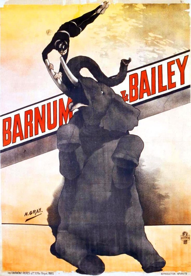 Barnum and Bailey Circus Poster, French