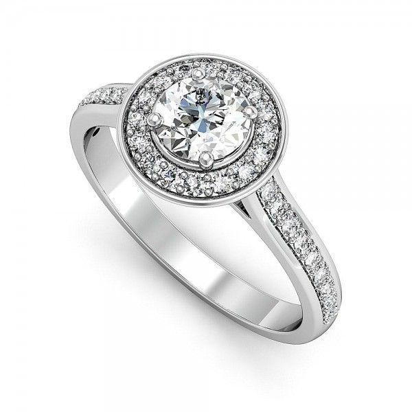 Halo Love Verlobungsring mit 0,82 ct.  #Haloring #Diamantringe #Verlobung #Verlobungsringe #VERLOBUNGSRING.de