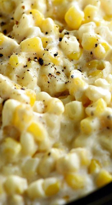 Slow Cooker Creamy Cheesy Corn