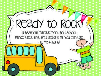 This ROCKS! Seriously has everything classroom management: how to quiet students down, classroom management, tips and tricks for quiet lines, brain breaks  cards, an adorable behavior clip chart, treasure box free reward cards, and SO much more.   Great for 1st year teachers!