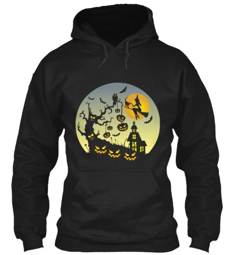 Halloween Black T-Shirt Front