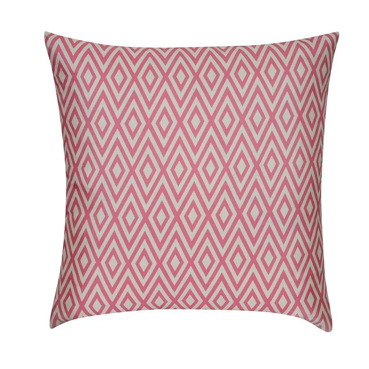 Loom and Mill Bold Diamond Geometric Throw Pillow, Pink