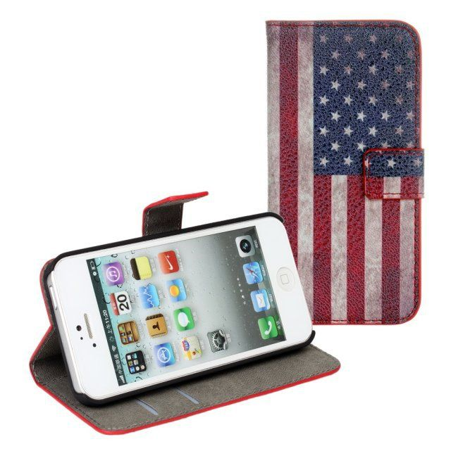 Retro United Kingdom Flag PU Cover with Stand for iPhone 5 Case American Flag PU Cover for iPhone 5s Cases With Card Slots