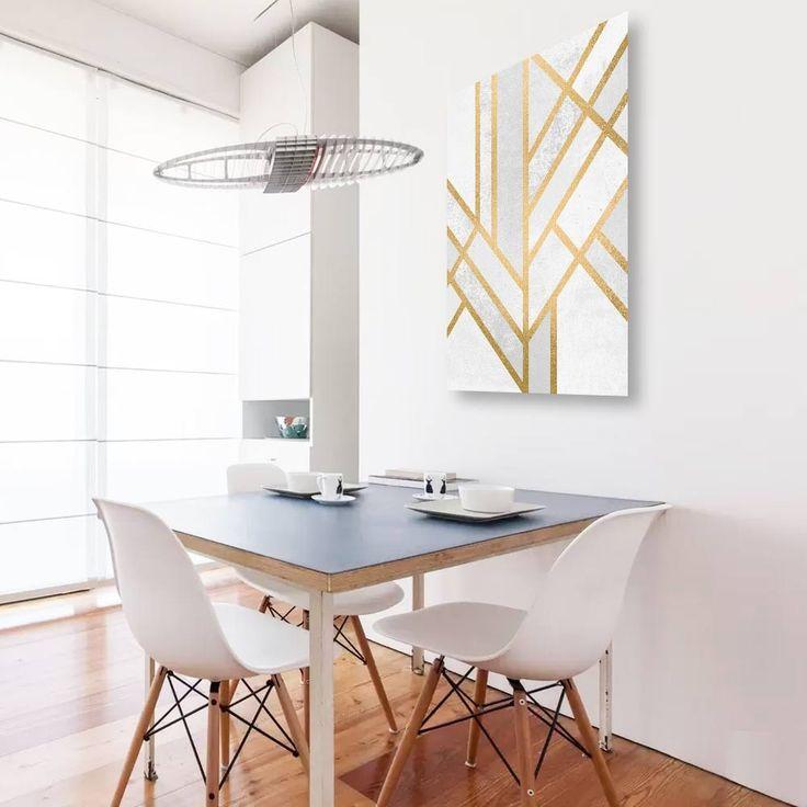 """""""Art deco geometry2"""". Tableau Design Numéroté by Elisabeth Fredriksson - A partir de 49 € - www.chall.fr #scandinave"""