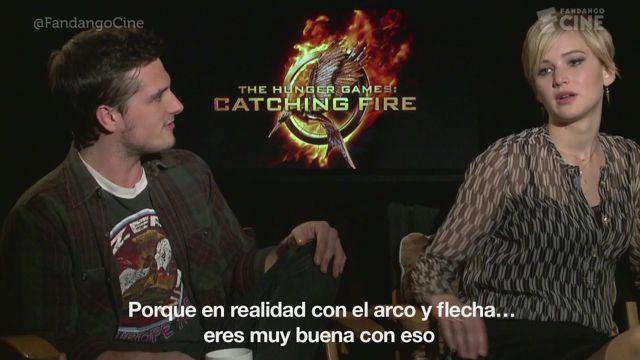 VIDEO: Entrevista a Jennifer Lawrence y Josh Hutcherson, protagonistas de 'The Hunger Games: Catching Fire'.  Los actores nos contaron, entre risas, cómo fue la accidentada declaraci