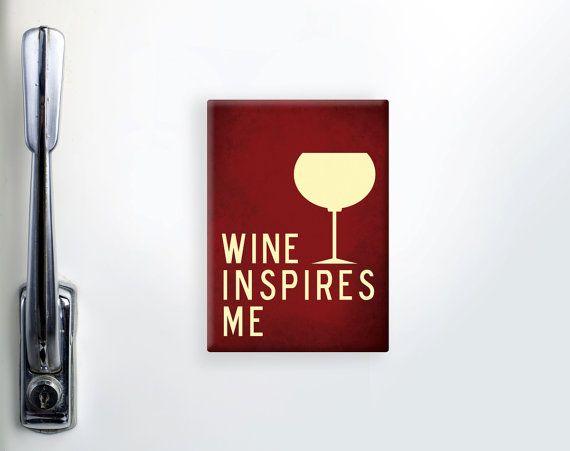 "Refrigerator Magnet, Fridge Magnet, Funny Magnets, Wine Magnet, ""2.5x3.5"" inches Magnet, Wine Glass Magnet, Kitchen Magnet, Wine Lover Gift"