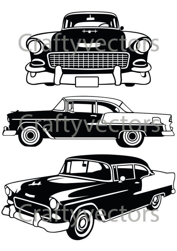 Chevrolet Bel Air 1955 Vector File Etsy Chevrolet Bel Air Bel Air Chevrolet