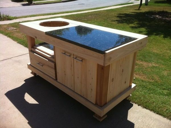 How To Build A Weber Grill Table - WoodWorking Projects & Plans | barbacoas | Pinterest | Weber ...