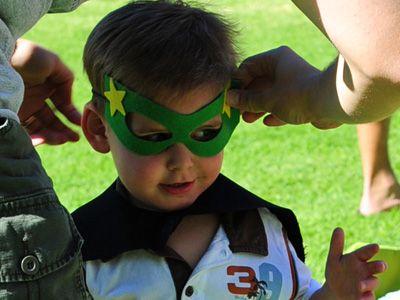 Free Superhero eye mask template
