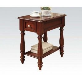 ACMEF80294-Cherry Finish Side Table