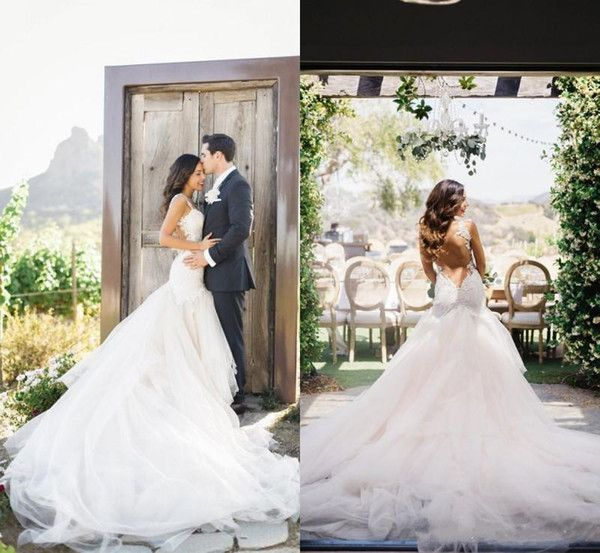 2017 Country Stunning Winter Mermaid Wedding Dresses Vestido De Noiva Sweetheart Lace Appliques Backless Bridal Gowns Chapel Train Mature Wedding Dresses Mermaid Dress Wedding From Ekishow, $232.49| Dhgate.Com