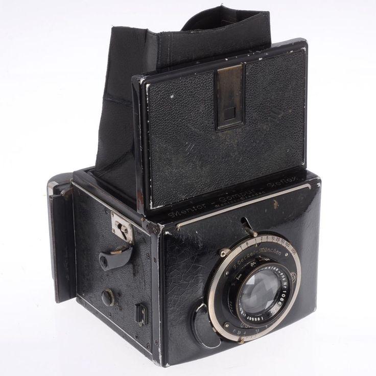 Mentor Coumpur Reflex Model 310 - 1929 German Box Camera w Roll Film Back, Zeiss #MentorCompur