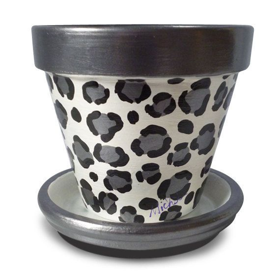 Snow Leopard Animal Print Black Grey Gray by MicheleCordaroDesign, $11.00