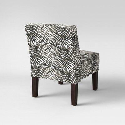 burke slipper chair washed zebra gray threshold