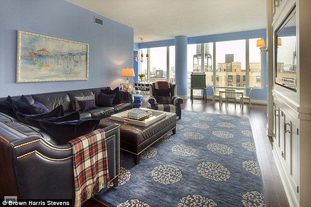 Upper West Side condo- 4 bedroom, 3.5 bathrooms, and blue everywhere... and owned by a View tv host.. only $3.3 million