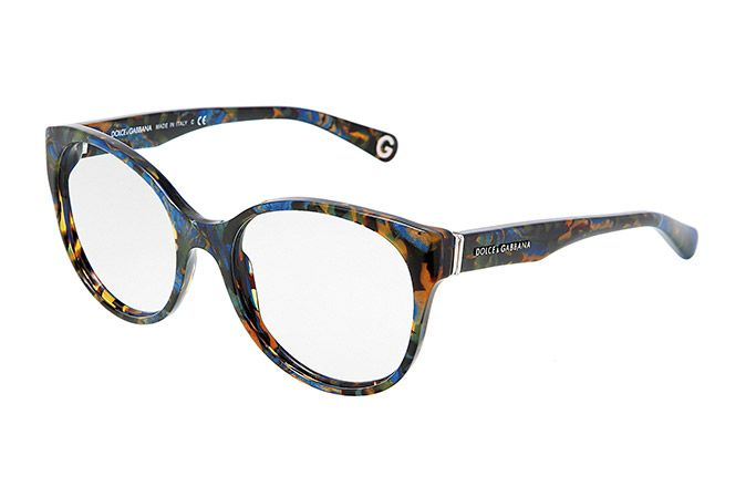 Blue Glasses Frames Ladies : Womens blue plastic eyeglasses with round frame by Dolce ...