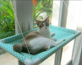 Window Cat Bed, Cat Bed, Cat Cot, Cat Hammock, Cat Furniture, Cat Perch, Modern Cat Bed, Portable Cat Bed, EXPRESS SHIPPING.