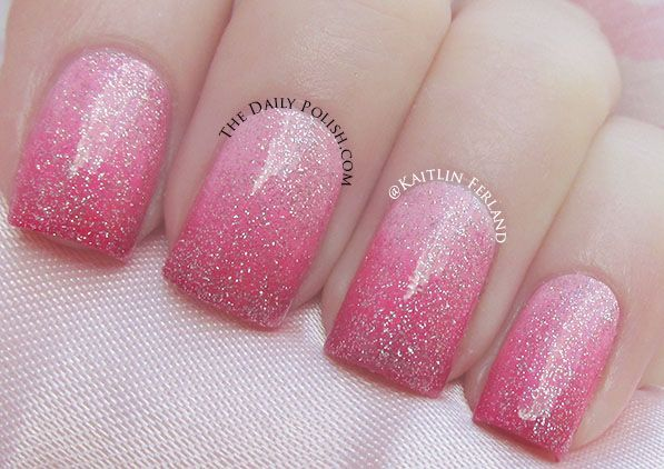 azature nail polish | Today I'm wearing the Azature – Pink over a pink gradient.
