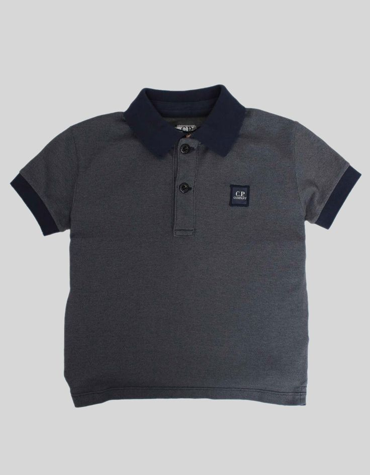C.P. Company Dark Blue Manica Polo Shirt | Accent Clothing
