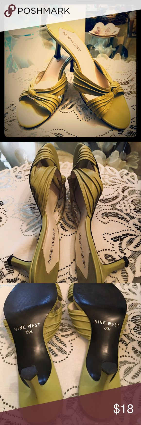 Nine West size 7.5 ladies shoes NIB Ladies 7.5 NINE WEST - New in box worn one time these are beautiful - kitten heel - Nine West Shoes Sandals
