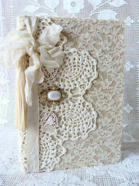 Lace covered journals activity